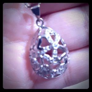 🐥Filigree Egg🐣.925 Necklace
